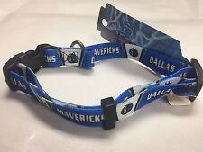 Dallas Mavericks Adjustable Nylon Web Dog Collar, Size Medium, Ships Free