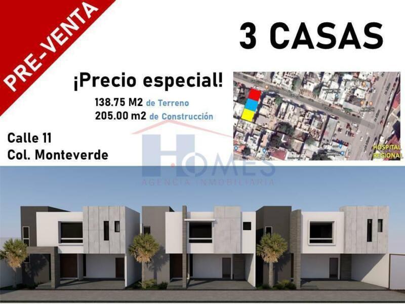 Preventa de casas en col. Monteverde, cd. Madero, Tamaulipas.