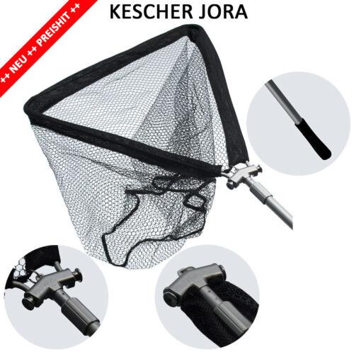 Teleskopkescher 2,50 oder 2,80m Hammerkopf Großfisch KarpfenKescher JORA Alustab