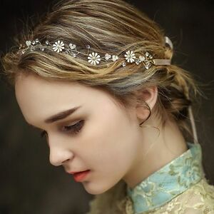 Image Is Loading Bridal Rhinestone Crystal Pearl Wedding Hair Band Vintage
