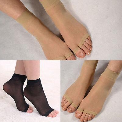 Summer Stocking Foot Care Socks Ultrathin Open Toe Ultrathin Mid-Ankle Socks