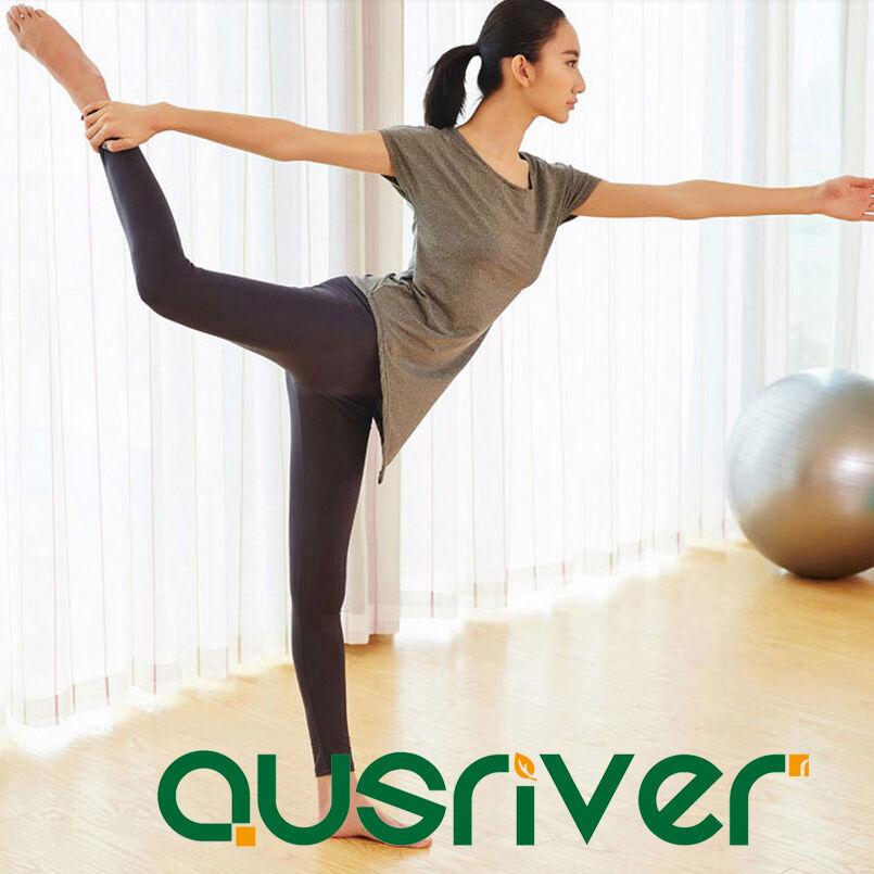 New 3pcs Yoga Training Suits Cropped T-Shirt Long Workout Pants Sports Bra