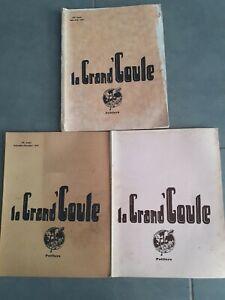 LA GRANDE' GHOUL POITIERS N°32-37-38 - 1934-35 ILLUSTRATO STAMPA L'UNIONE