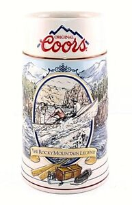 Vintage-Coors-The-Rocky-Mountain-Legend-Series-Collectible-7-034-Beer-Stein-1991