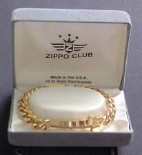 MEGA Selten Zippo Club Braclet & Tie Bar 18k Gold Plate RAR !