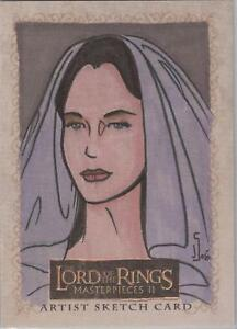 Lord-of-the-Rings-Masterpieces-II-Jamie-Snell-034-Arwen-034-Sketch-Card