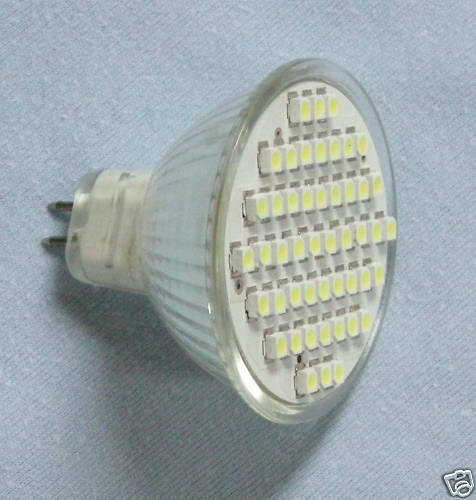 Warm White MR16 Rear Pin 48SMD//LED halogen replacement    MR16-48-WW
