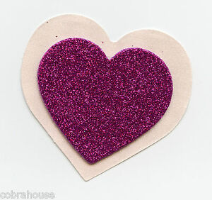Nipple Pasties Covers Glitter black heart pasties Glitter red heart pasties Lingerie accessory Nipple pasties