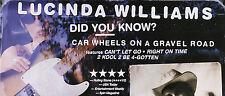 LUCINDA WILLIAMS '99 CAR WHEELS ON A GRAVEL ROAD POSTER ORIGINAL