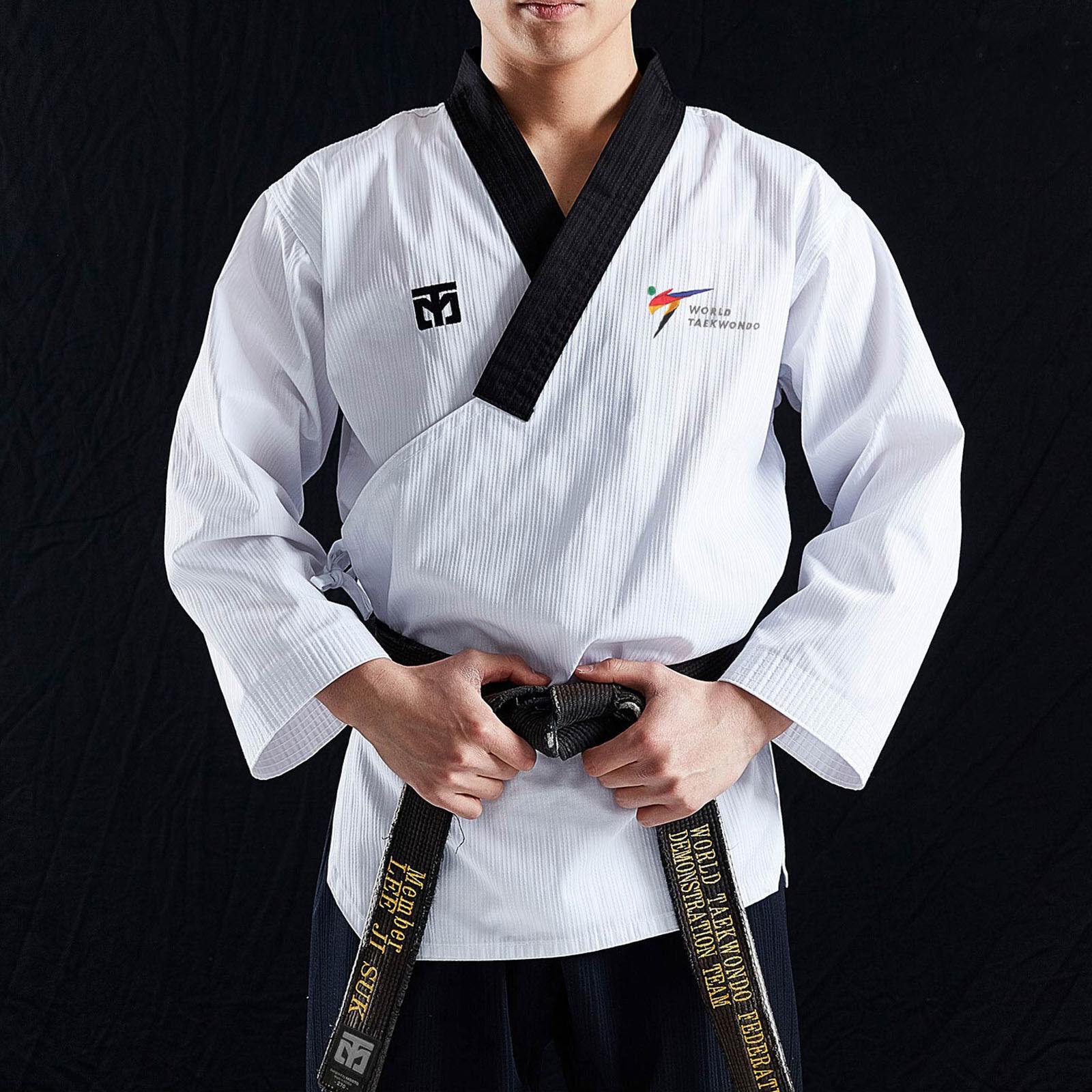 Professional Poomsae Suits Mooto Taebek Male Dan Holder Uniform  New WT Logo MMA  discount low price