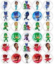 x 30 PJ Masks Cupcake Toppers Edible Wafer Paper Fairy Cake Topper