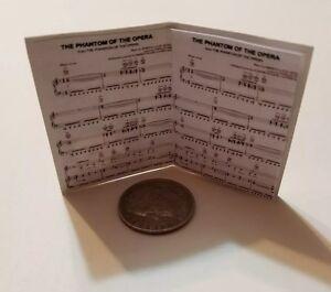 """Miniature   1//6 Barbie  Phantom of the opera Musical Piano Sheet Music Book 1.5/"""""""
