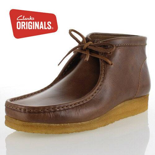 Clarks Originals Da Uomo ** WALLABEES WALLABEES WALLABEES Horween Camel in Pelle ** Uk 7,8,9,10,11 G d52d5a