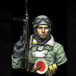1-10-Resin-Machine-Gun-Paratrooper-Soldier-Bust-Model-Unpainted-Garage-Kits-NEW