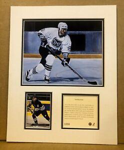 Hartford Whalers Geoff Sanderson 1994 Hockey 11x14 MATTTED Kelly Russell Print