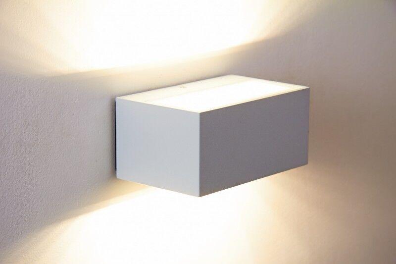 Led applique esterni da parete ip w metallo design