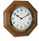 Acctim Richmond Hexagonal Light Wooden Quartz Wall Clock 24196