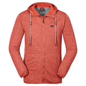 Intelligente Jack Wolfskin Homme Tongari Stretch à Capuche Full Zip Pull Veste Rouge Petit Grand-afficher Le Titre D'origine Excellente Qualité