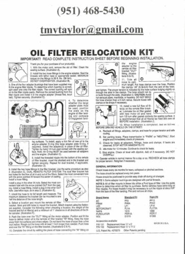 FORD Powerstroke Diesel 6.7 Dual Remote Engine Oil Filter Kit~NO Hose~NO Filters
