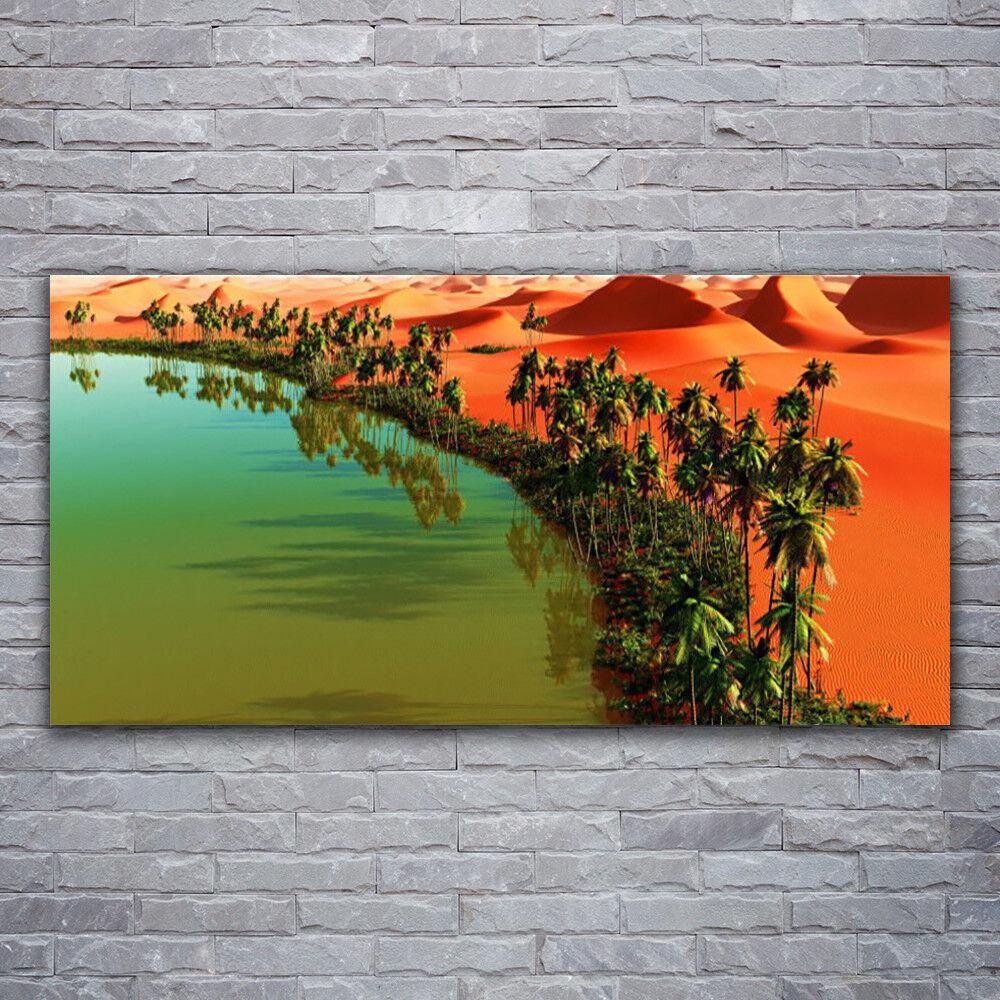 Photo sur toile Tableau Image Impression 120x60 Paysage Baie Désert Arbres