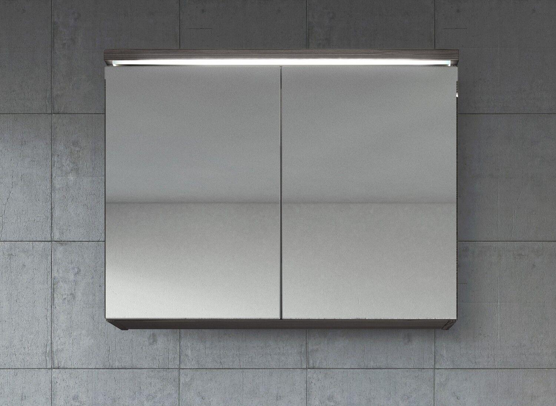 Meuble à miroir 80x60 cm Bodega - Miroir armoire miroir salle de bains verre arm