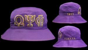 Omega Psi Phi Bucket Hat (S M 7 1 8 to 7 3 8) or (L XL 7 1 2 to 7 3 ... 1a111b5a5b6