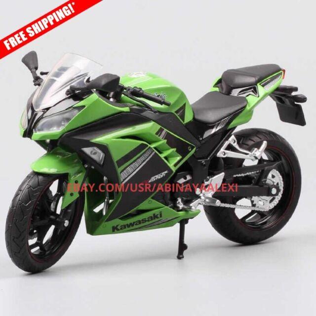 112 Scale Automaxx Kawasaki Ninja 250r Se 300 Race Motorcycle Diecast Toy Model