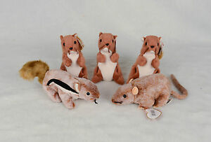 Image is loading 5-Ty-Beanie-Babies-3-Nuts-Squirrel-Tiptoe- b300ac2a7655