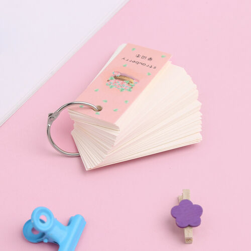 Mini 110 Sheet Lovely Notebook School Supply Vocabulary Writing Reciting Book