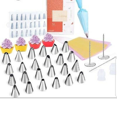 Kitchen, Dining & Bar Iefwell Cake Decorating Kit 52 Pcs Utmost In Convenience Baking Accs. & Cake Decorating