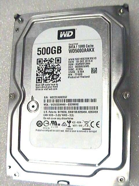 """500b Western Digital WD5000AAKX 3.5"""" internal SATA 6Gb/s Hard Drive 7200rpm"""