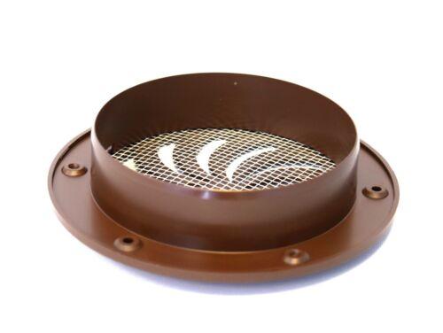 """Brown Round Conduits de ventilation cover 100 mm//4/"""" Obturateur Cercle Air Vent Grille"""