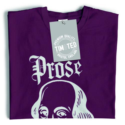 Novelty Parody T Shirt Prose Before Hoes Shakespeare Logo Old English
