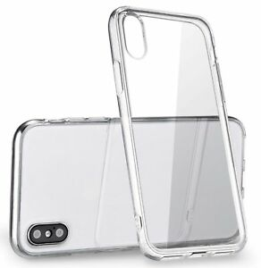 best loved 68b0c b2e3b Details about for Apple iPhone X Case Silicone Crystal Clear Bumper Gel  iPhone 10 Soft Cover