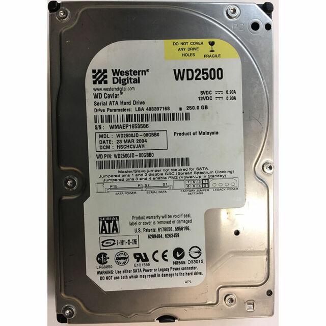 Western Digital 250GB, 7200RPM, SATA - WD2500JD-00GBB0