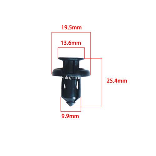 Car Fastener Rivet Clips Assortment Fasteners 10mm Push Fender Flare Fastener