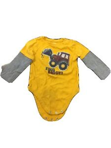 Infant Tonka I Dig Dirt iDirt Tractor Truck Shirt New 18 24 Months