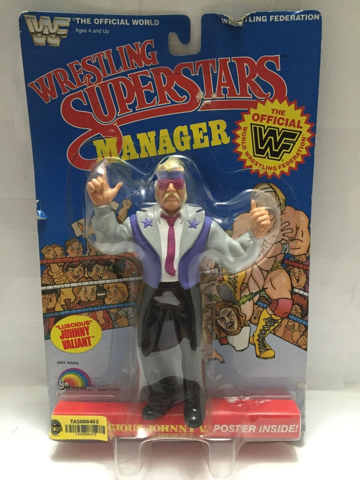 TAS000453  - 1985 LJN Wrestling Superstars Manager  Luscious Johnny V.