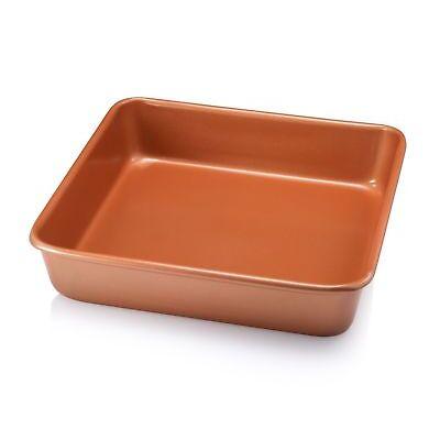 "Gotham Steel Bakeware - Nonstick Copper Square Baking Tin - 9.5"" x 9.5"" - NEW!"