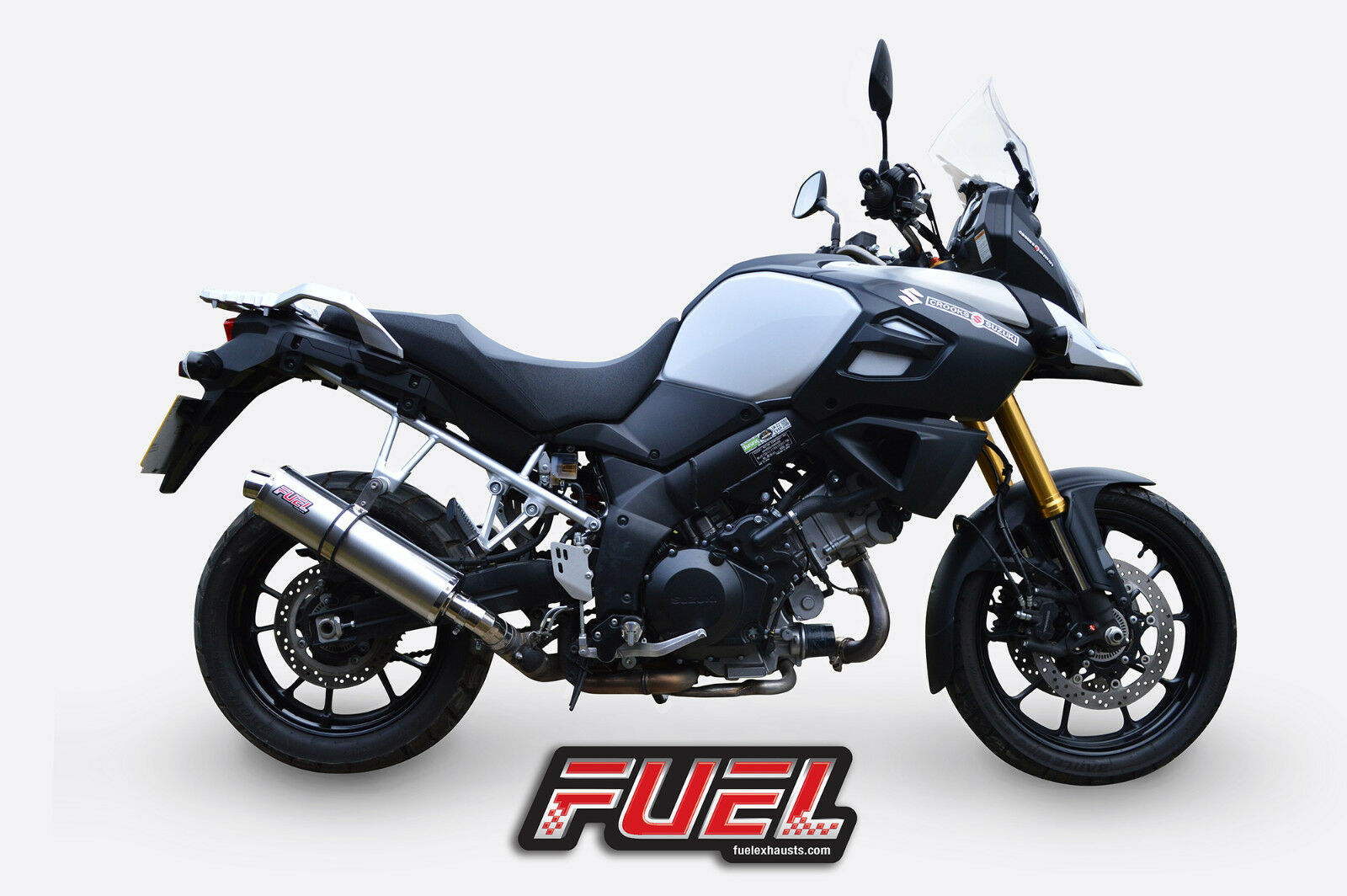 Suzuki Dl1000 V-Strom Adventure Auspuff - Klassisch Gebürstet Rund Midi