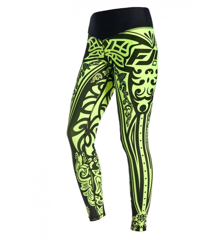 Leggings sporthose etno lemon bunt damenhose fitness freizeit Gr. M