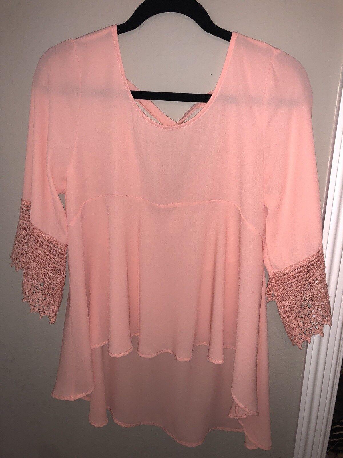 damen's altar'd state Rosa coral flowy shirt blouse top Größe S never NWOT