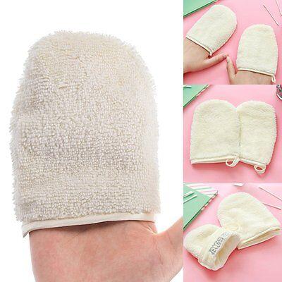 Reusable Microfiber Facial Cloth Face Towel Makeup Remover Cleansing Glove Tool