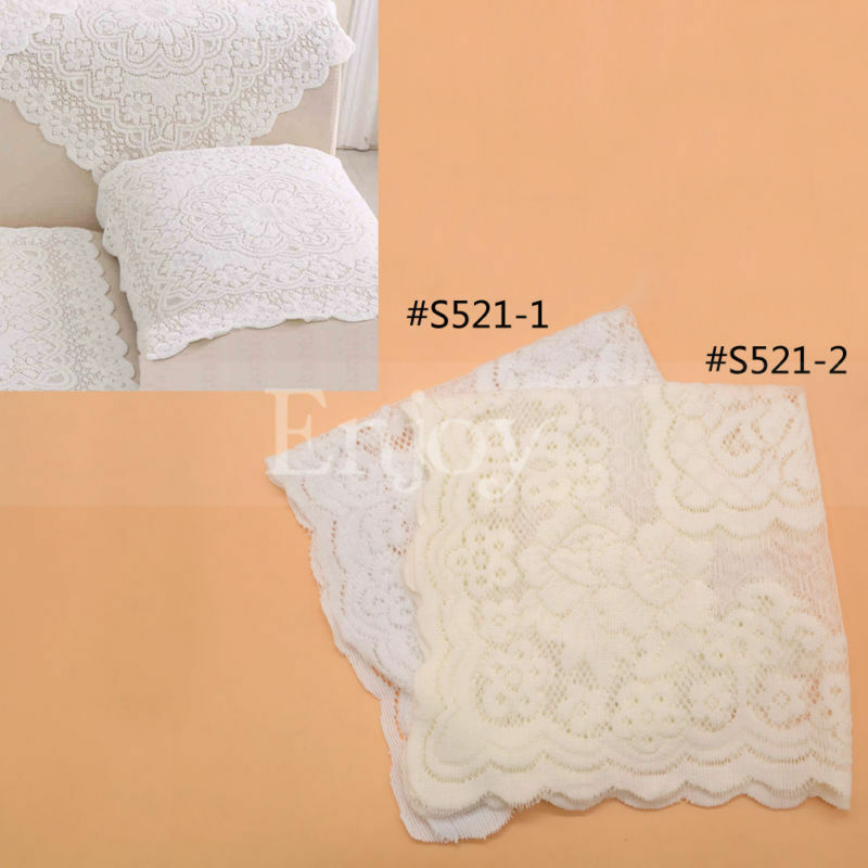 Hollow Out Lace Sofa Armrest Cover Peony Pattern Couch Home Decoration 1pc