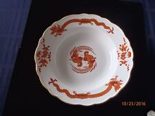 """MEISSEN RED DRAGON 12 ROUND SOUPS 9 1/4"""" SOLD INDIVIDUALLY"""