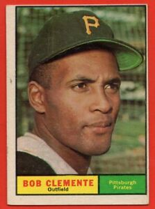 1961 Topps #388 Roberto Clemente EX-EXMINT Pittsburgh Pirates HOF FREE SHIPPING