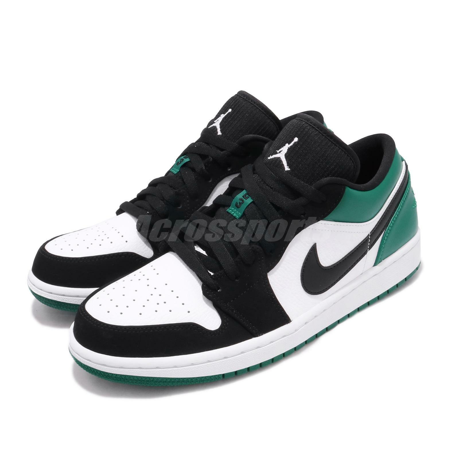 49df53bf49 Nike Air Jordan 1 Low I AJ1 Mystic Green White Black Men Shoe Sneaker  553558-113
