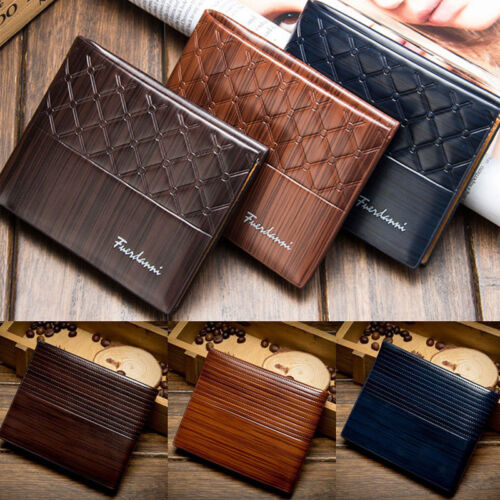 New Designer Mens Leather Wallet SAFE Contactless Card Blocking ID Protection