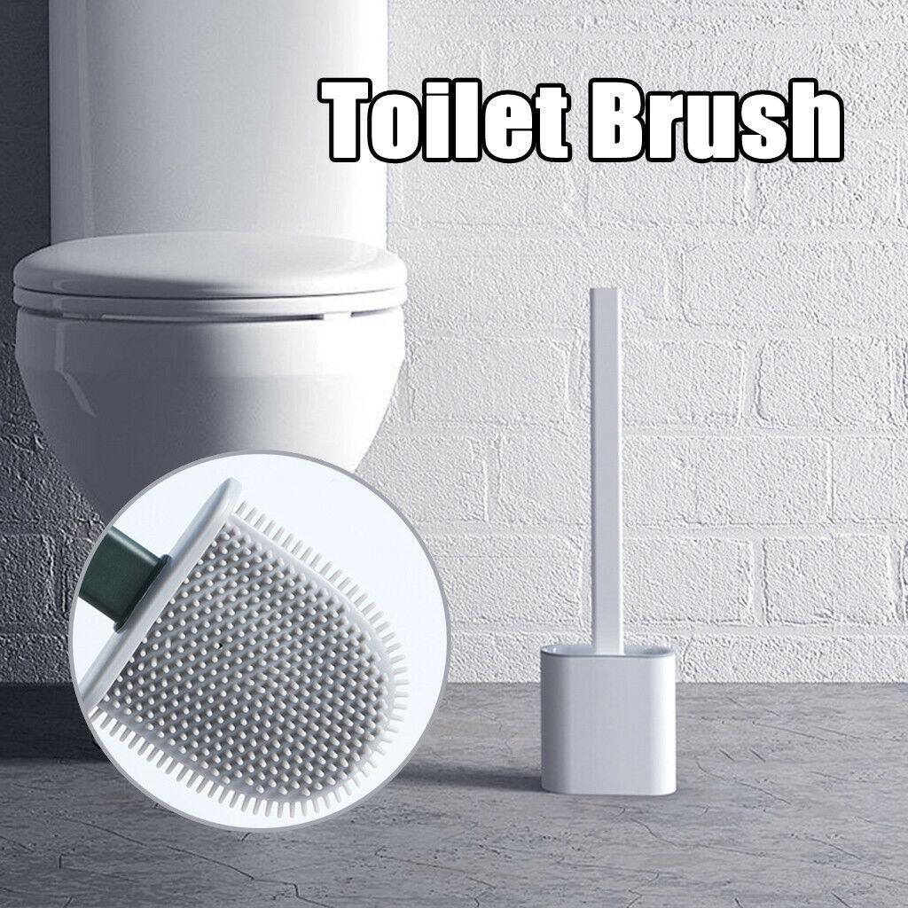 silicone toilet brush with toilet brush holder
