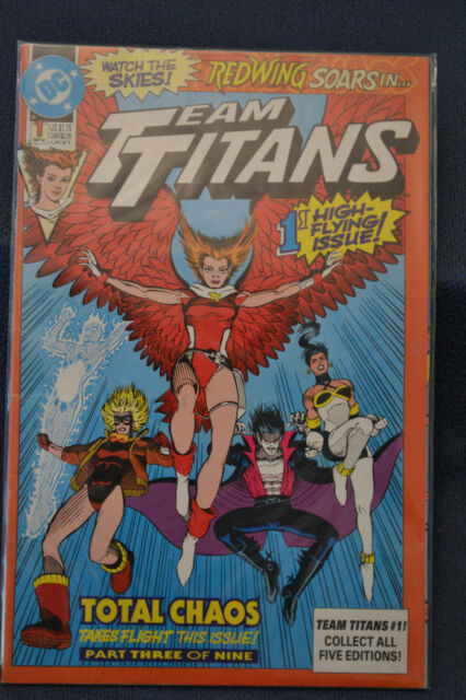 Team Titans issue 1 from DC Comics Redwing cover
